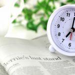 英字新聞と時計